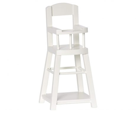 Akcesoria dla lalek – High Chair for Micro, offwhite