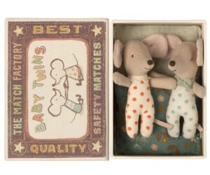 Maileg Myszka - Baby mice, Twins in box