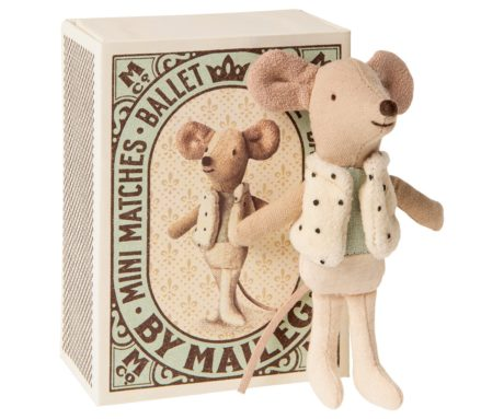 Maileg Dancer in matchbox, Little brother mouse