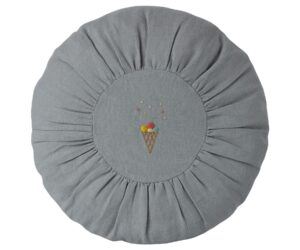 MAILEG Poduszka - Cushion, Round - Blue