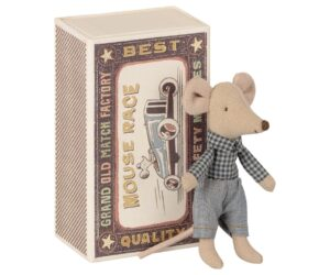 Maileg Myszka - Little brother mouse in matchbox 16-1725-01