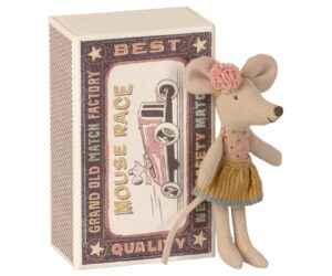 Maileg Myszka - Little sister mouse in matchbox 16-1726-01
